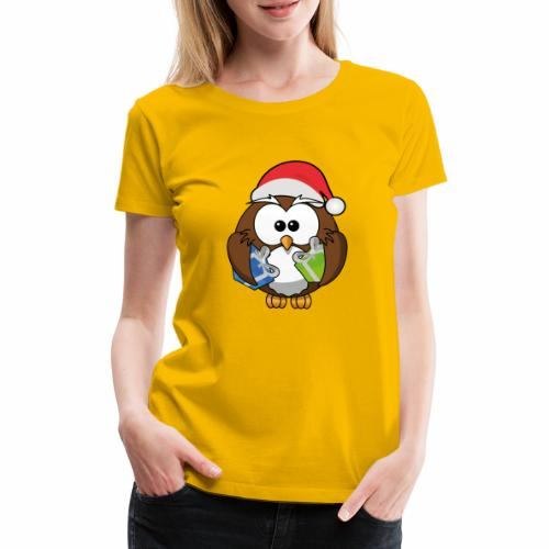 Weihnachtseule - Frauen Premium T-Shirt