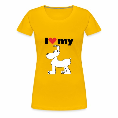 I love my dog - Frauen Premium T-Shirt