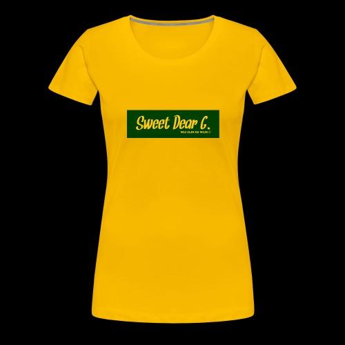 Sweet Dear G Groen Geel - Vrouwen Premium T-shirt