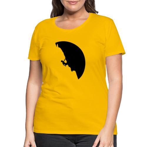 Kletterer in schwarz - Frauen Premium T-Shirt