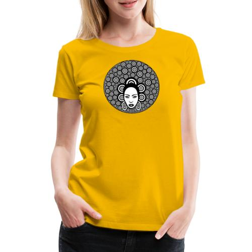 Afro hair woman - Women's Premium T-Shirt