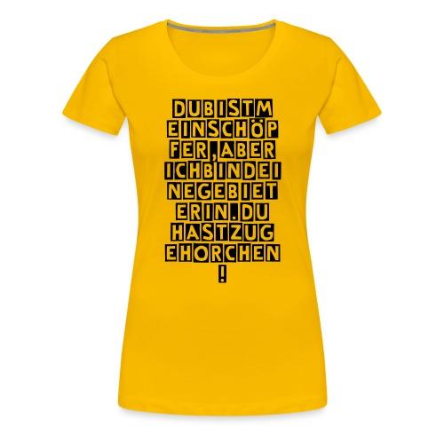 Du bist mein Schöpfer, 02 - Frauen Premium T-Shirt