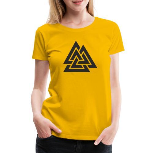 Valknut. Símbolo vikingo - Camiseta premium mujer