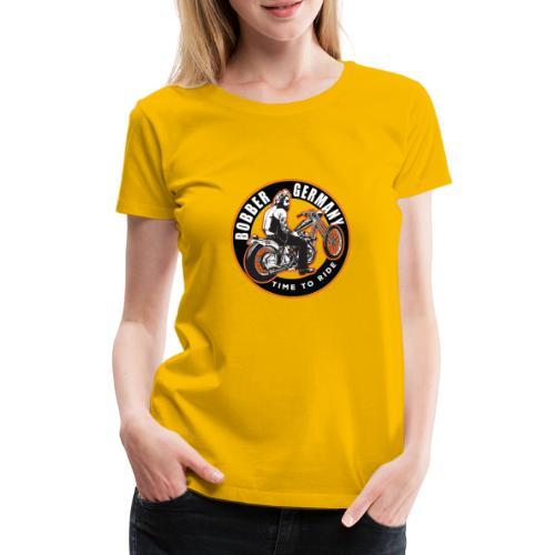 Bobber Germany - Chopper Motorrad Racing HD Custom - Frauen Premium T-Shirt