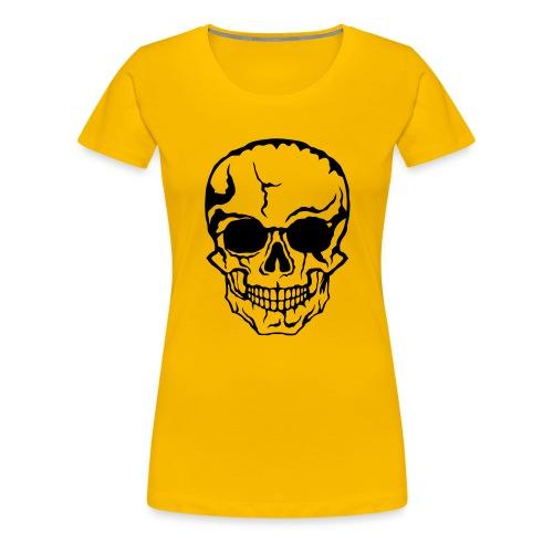 tete de mort halloween horreur dessin 21 - T-shirt Premium Femme