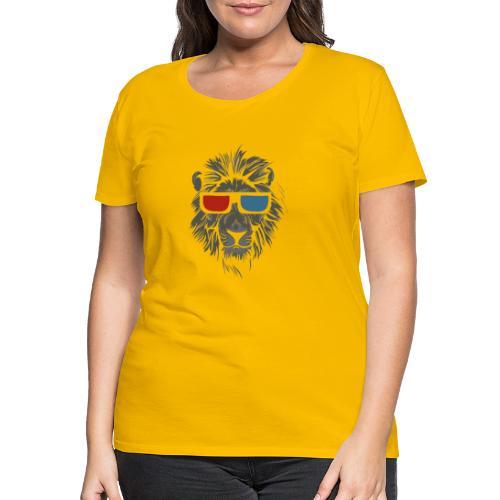 Lion 3D - Premium-T-shirt dam