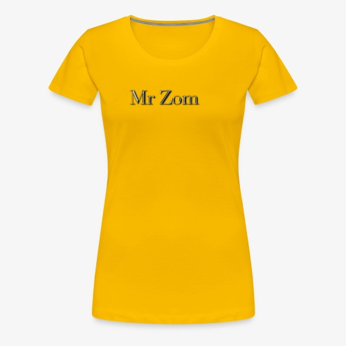 Mr Zom Text - Women's Premium T-Shirt