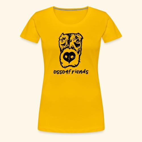 Logo NERO TRASPARENTE creative - Maglietta Premium da donna