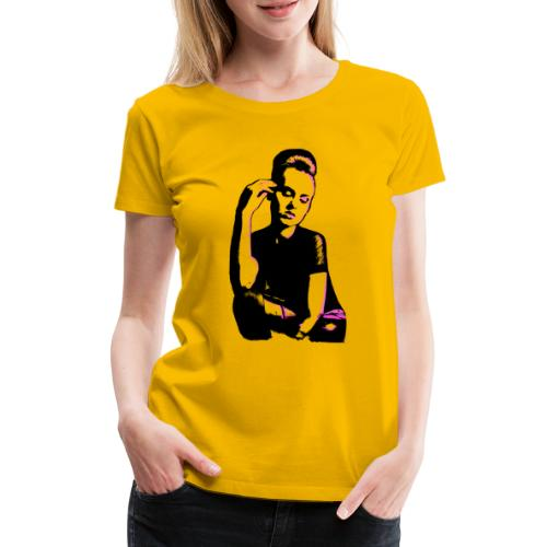 ATTITUDE (pink) - Dame premium T-shirt