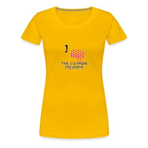 I Love The Cayman Islands - Women's Premium T-Shirt