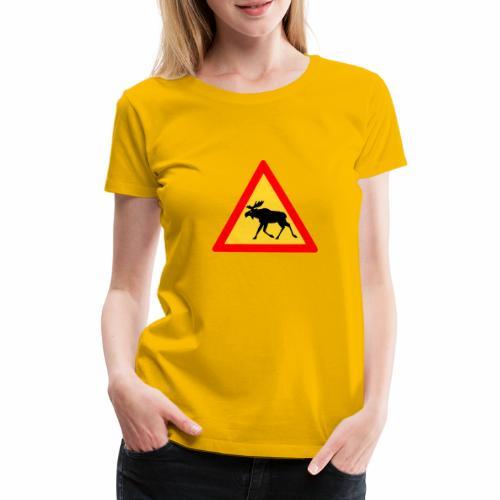 Tjurig älg - Premium-T-shirt dam