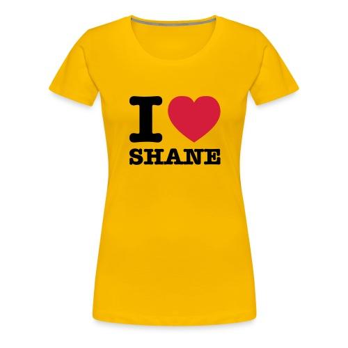 I love Shane - Frauen Premium T-Shirt