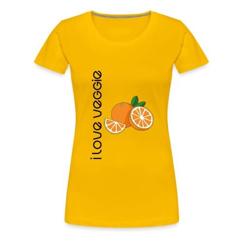 i love veggie - Frauen Premium T-Shirt