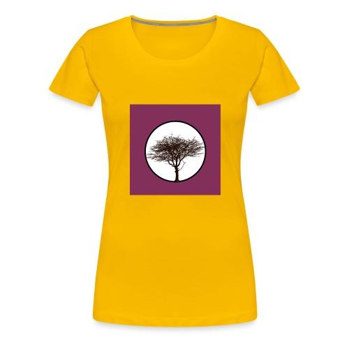 Baum in Kreis - Frauen Premium T-Shirt