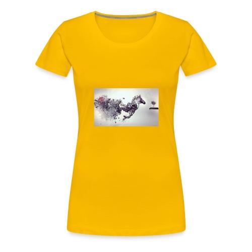 zebra leon camello perro gato - Camiseta premium mujer