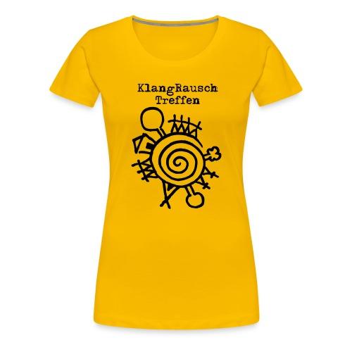KlangRauschTreffen Logo mit Schrift - Frauen Premium T-Shirt