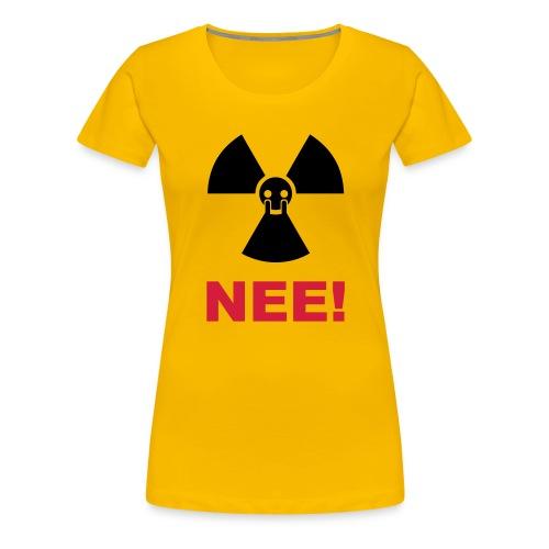 T-Shirt Mann Atom Nein Danke 34 © by kally ART® - Frauen Premium T-Shirt