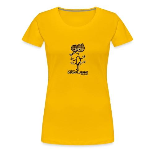 Døgnfluerne Short Comic Simpelt Logo Design. - Dame premium T-shirt