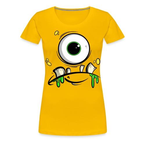 Monster Gesicht - Frauen Premium T-Shirt