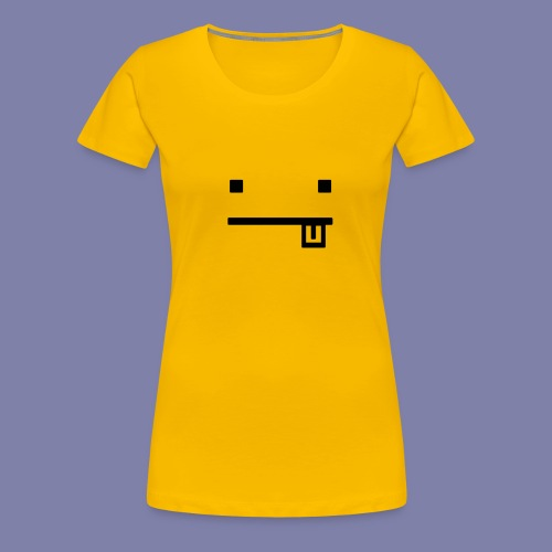Blocky Tongue Face - Women's Premium T-Shirt