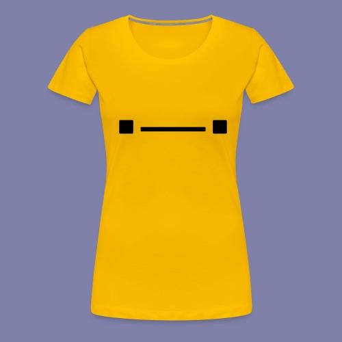 Middle Blocky Face - Women's Premium T-Shirt