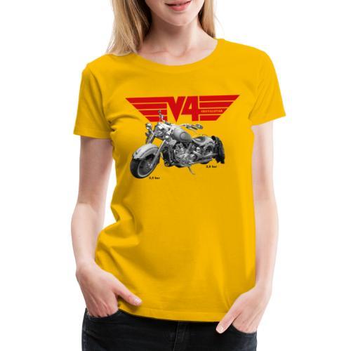 V4 Motorcycles red Wings - Frauen Premium T-Shirt