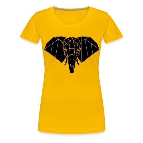 Gezeichneter Elefant - Frauen Premium T-Shirt
