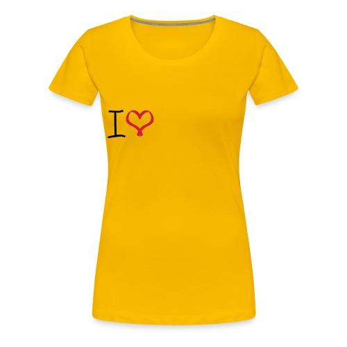 I love, I heart symbol - Women's Premium T-Shirt