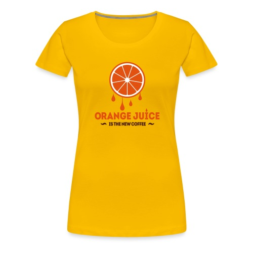 Orange Juice.eps - Vrouwen Premium T-shirt