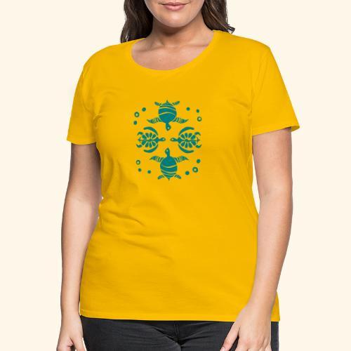 Unterwasserwelt mit Schildis - Frauen Premium T-Shirt