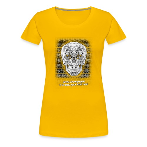 skull black trans 2 jpg - Vrouwen Premium T-shirt