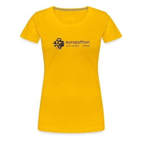 EuroPython 2020 - Black Logo - Women's Premium T-Shirt
