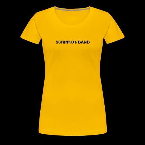 SCHINKO BAND Logo Schwarz - Frauen Premium T-Shirt