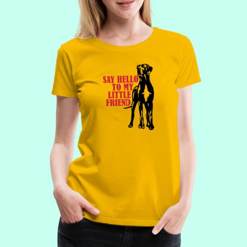 Say Hello To My Little Friend - Frauen Premium T-Shirt