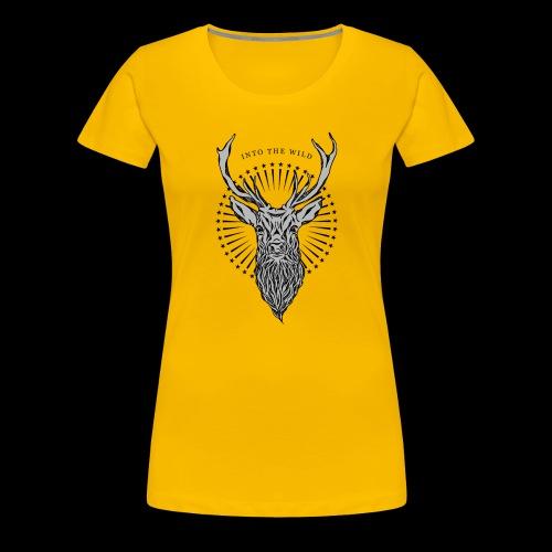 Hirsch - Into the Wild - Frauen Premium T-Shirt