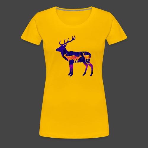 Wärmebildhirsch-Pixel-Shirt für Jäger - Frauen Premium T-Shirt