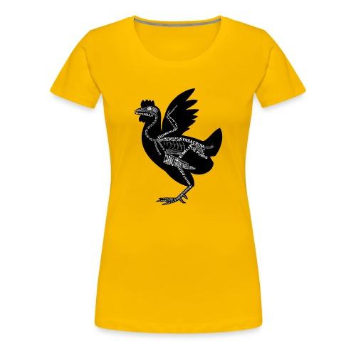 Huhn-Skelett - Naisten premium t-paita