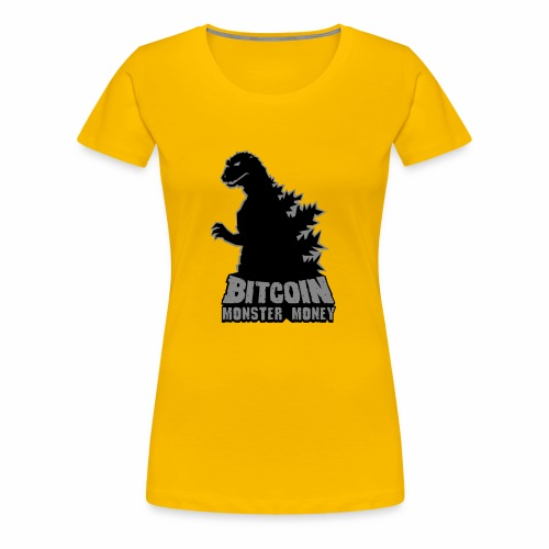 Bitcoin Monster Money - Women's Premium T-Shirt