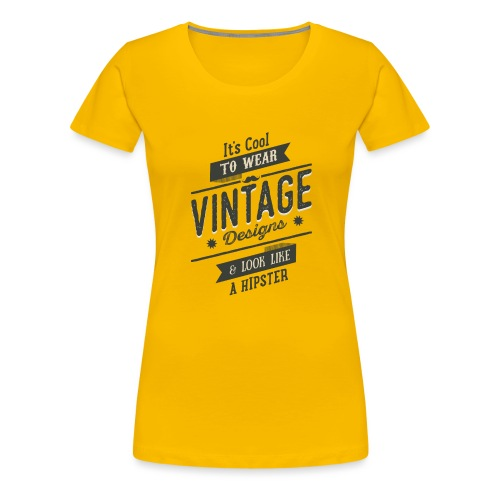 Vintage Design dark - Women's Premium T-Shirt