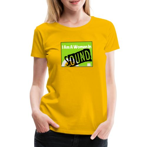 I am a woman in sound - Women's Premium T-Shirt