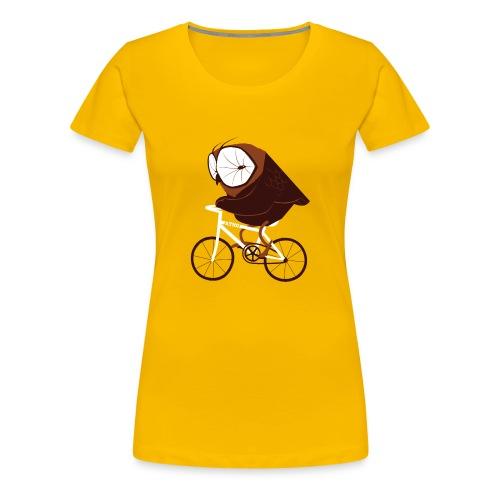 Cycling Owl - Frauen Premium T-Shirt