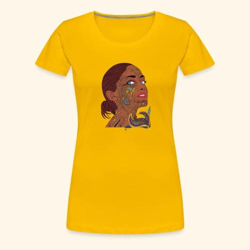 CARA DE MUJER AFRICANA - Camiseta premium mujer