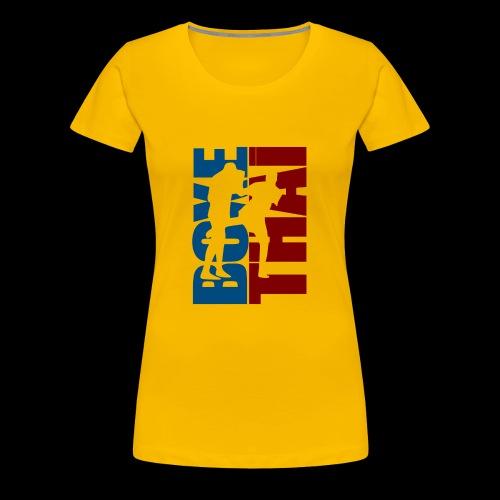 boxe thai - T-shirt Premium Femme