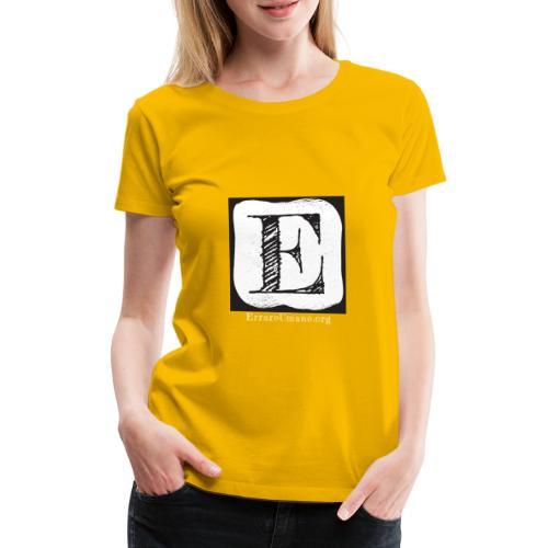 Logo ErrareUmano con scritta bianca - Maglietta Premium da donna