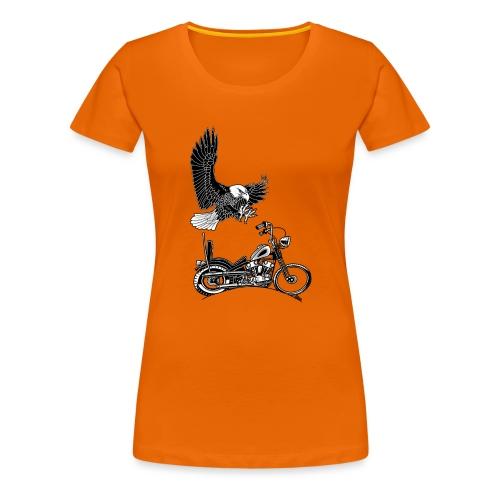0906 eagle chopper knucklehead - Vrouwen Premium T-shirt