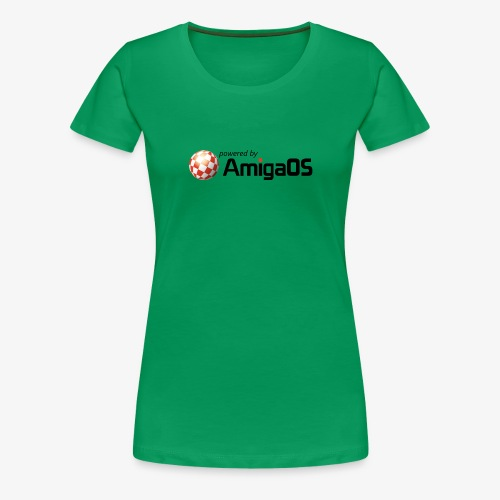 PoweredByAmigaOS Black - Women's Premium T-Shirt