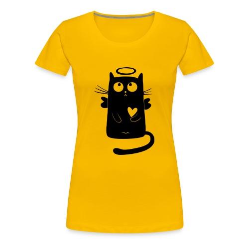 Katzengel - Frauen Premium T-Shirt