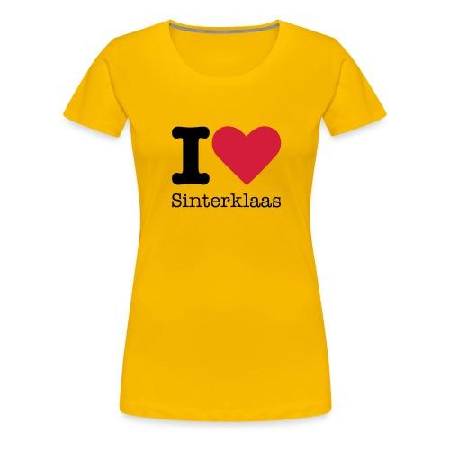 I Love Sinterklaas - Vrouwen Premium T-shirt