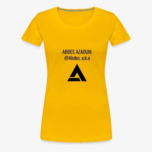 ABDES AZAOUM - Vrouwen Premium T-shirt