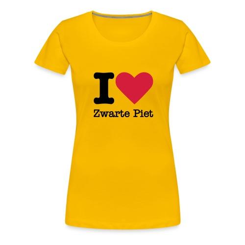 I Love Zwarte Piet - Vrouwen Premium T-shirt